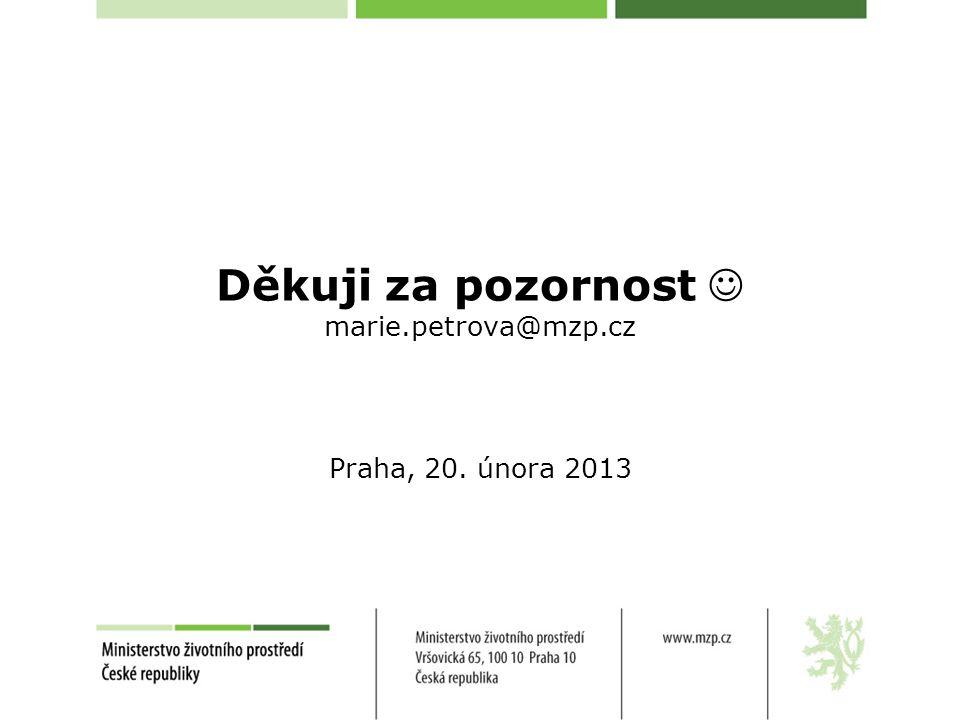 Děkuji za pozornost marie.petrova@mzp.cz Praha, 20. února 2013