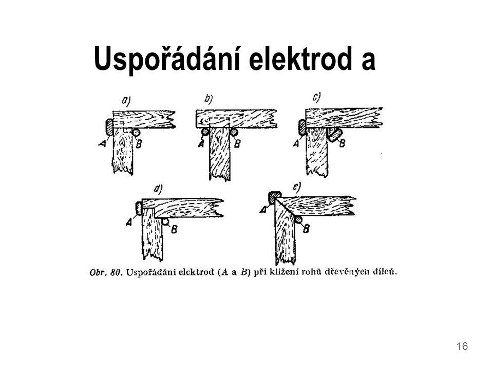 16 Uspořádání elektrod a