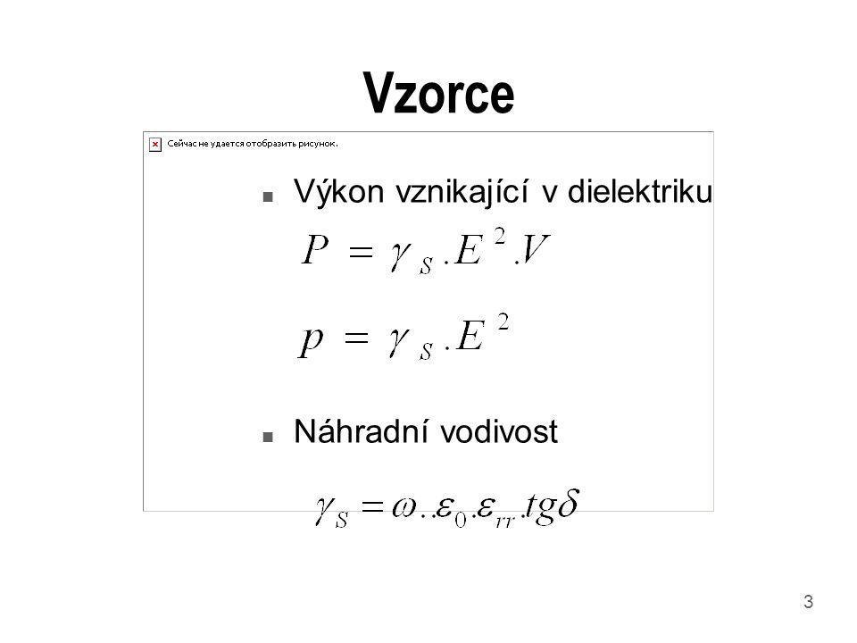 3 Vzorce n Výkon vznikající v dielektriku n Náhradní vodivost