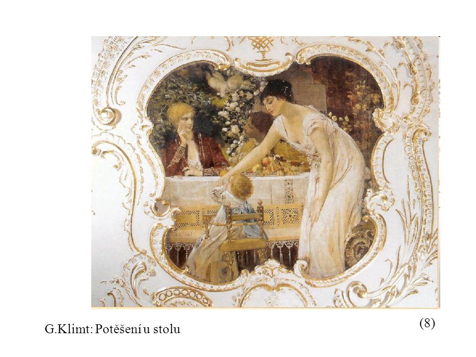 G.Klimt: Potěšení u stolu (8)