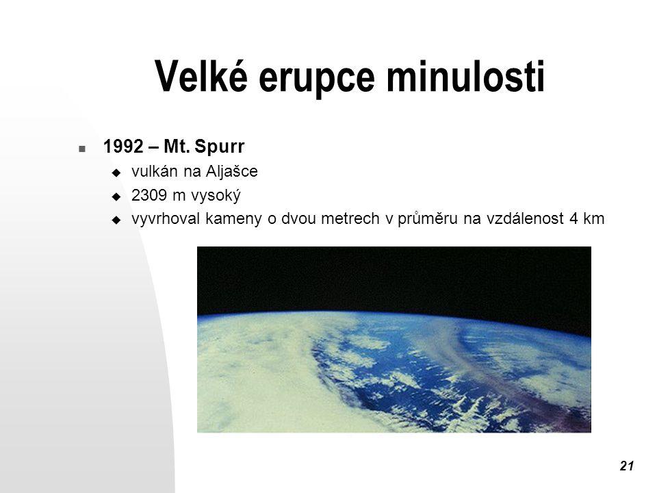21 Velké erupce minulosti 1992 – Mt.