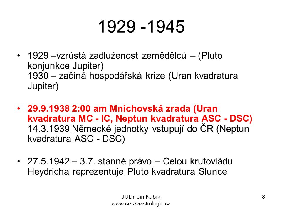 JUDr. Jiří Kubík www.ceskaastrologie.cz 9