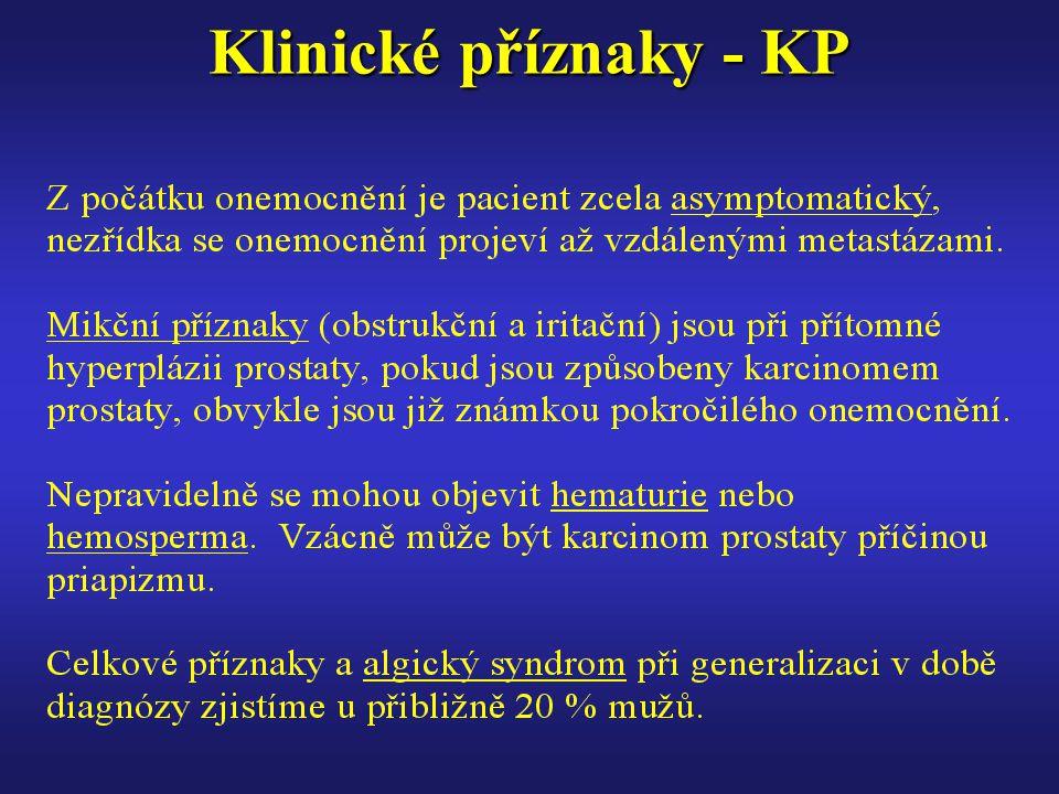 Klinické příznaky - KP
