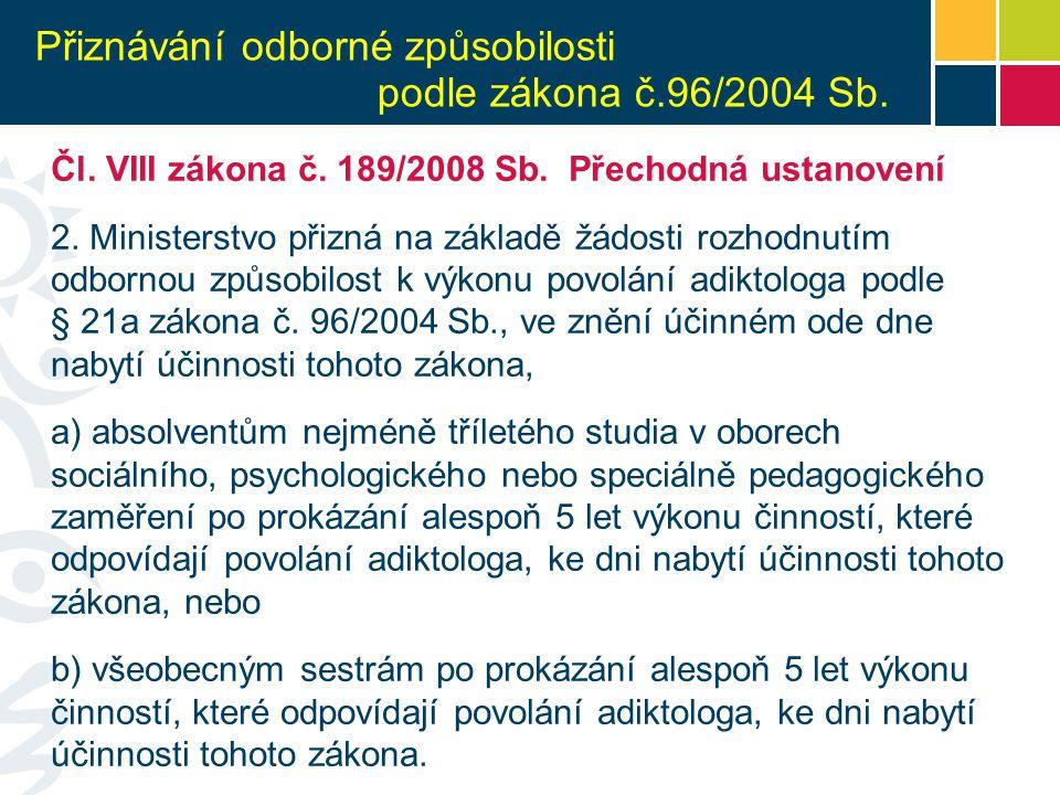 Vydání osvědčení k výkonu povolání bez odborného dohledu Čl.