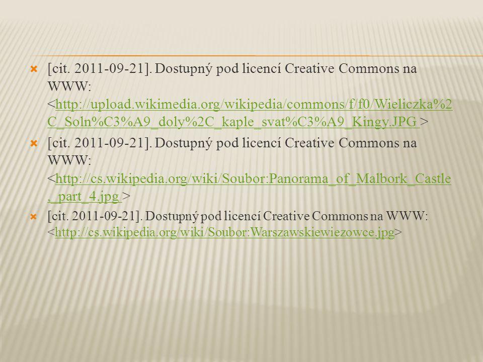  [cit. 2011-09-21]. Dostupný pod licencí Creative Commons na WWW: http://upload.wikimedia.org/wikipedia/commons/f/f0/Wieliczka%2 C_Soln%C3%A9_doly%2C