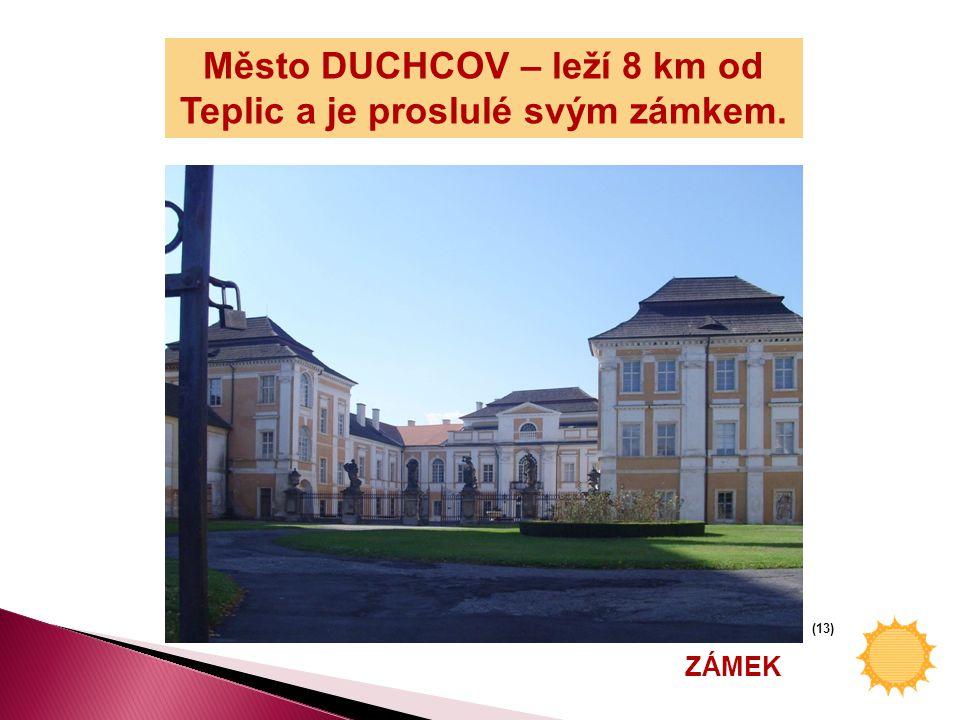 Podívej se na mapu Teplicka a zkus vyjmenovat města nebo vesnice, které znáš. (12)