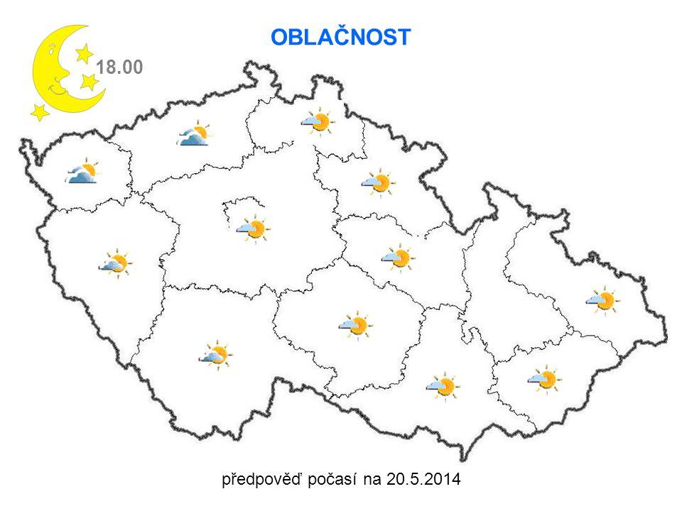 předpověď počasí na 20.5.2014 18.00 OBLAČNOST