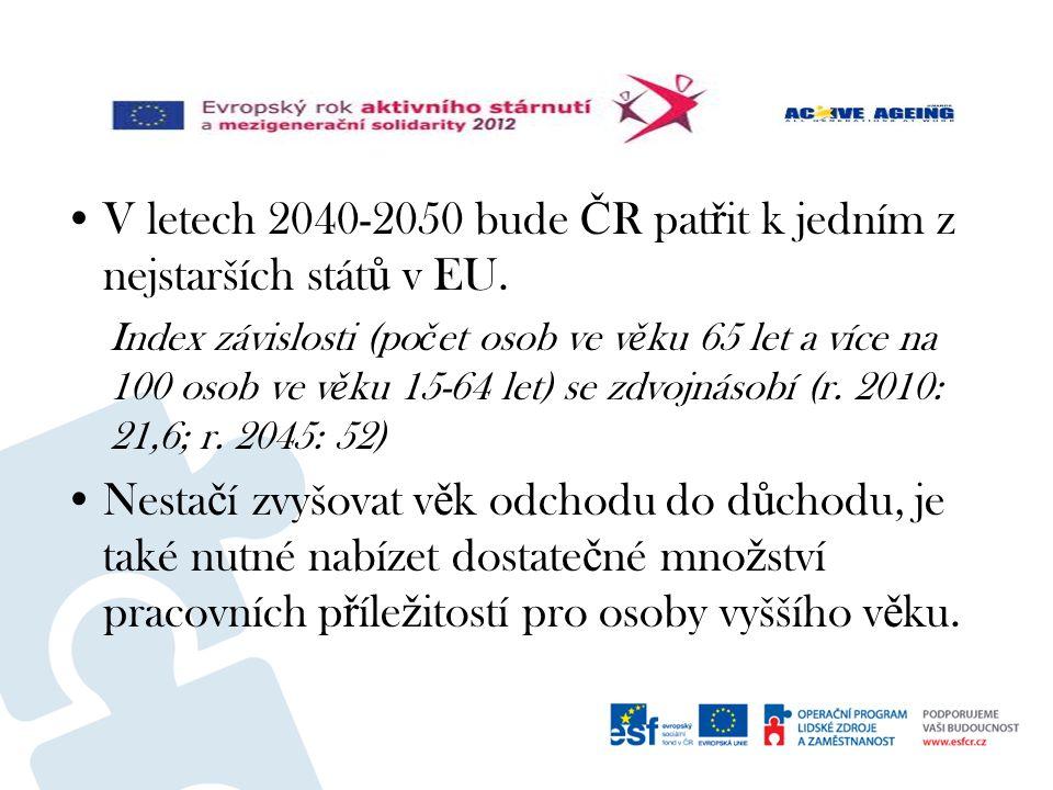 V letech 2040-2050 bude Č R pat ř it k jedním z nejstarších stát ů v EU.