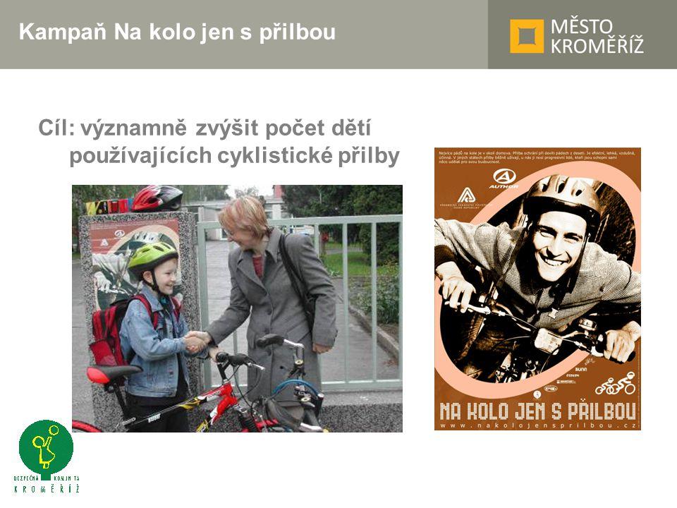 Kampaň Na kolo jen s přilbou Cíl: významně zvýšit počet dětí používajících cyklistické přilby