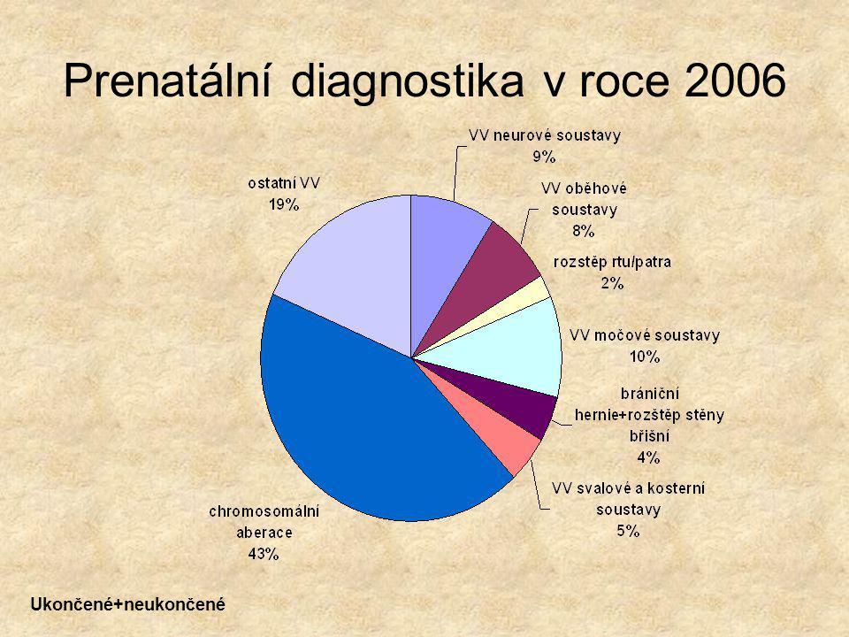 Prenatální diagnostika v roce 2006 Ukončené+neukončené