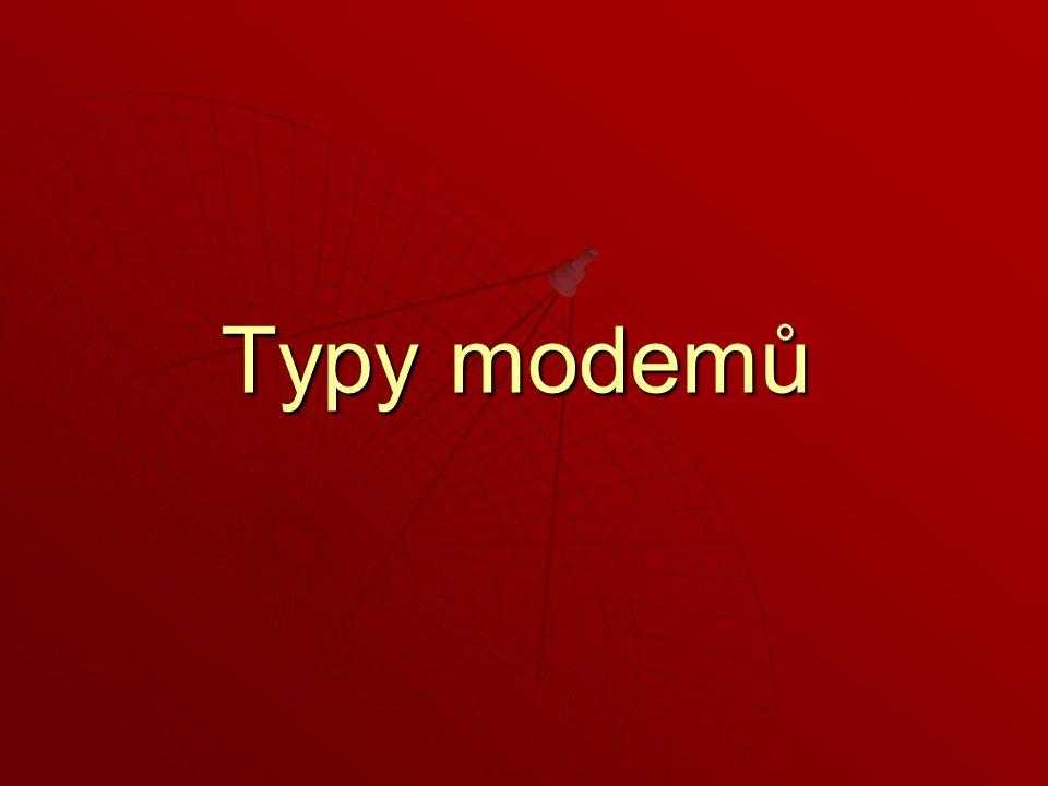 Typy modemů