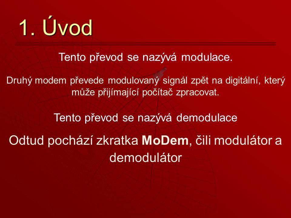 Druhý modem převede modulovaný signál zpět na digitální, který může přijímající počítač zpracovat.