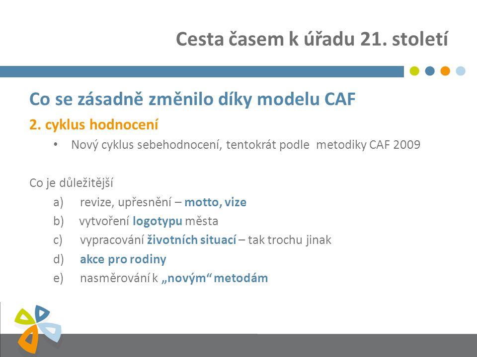 Cesta časem k úřadu 21. století Co se zásadně změnilo díky modelu CAF 2.