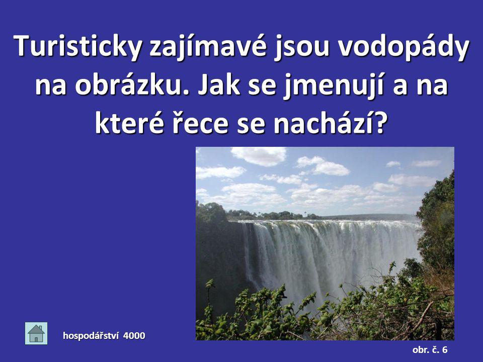 Turisticky zajímavé jsou vodopády na obrázku. Jak se jmenují a na které řece se nachází.