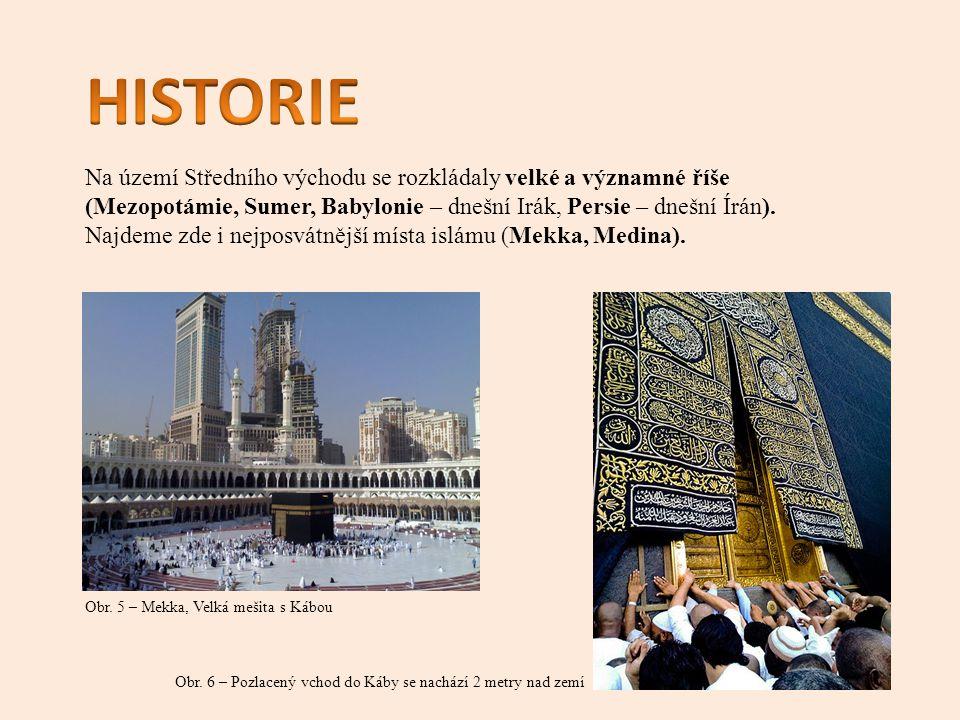 Na území Středního východu se rozkládaly velké a významné říše (Mezopotámie, Sumer, Babylonie – dnešní Irák, Persie – dnešní Írán).