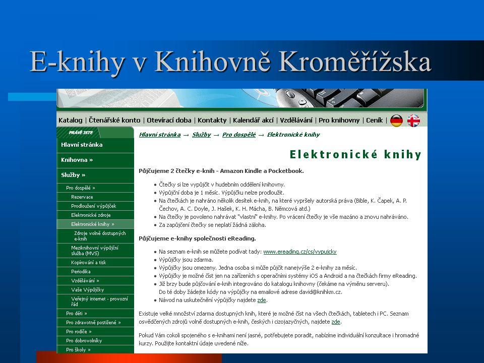 E-knihy v Knihovně Kroměřížska