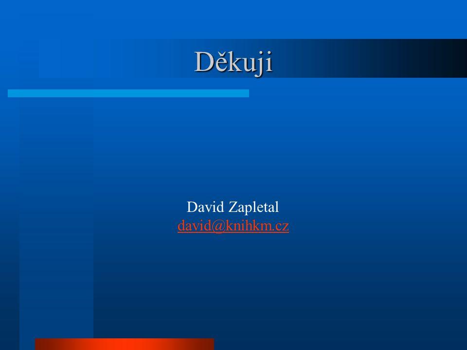 Děkuji David Zapletal david@knihkm.cz