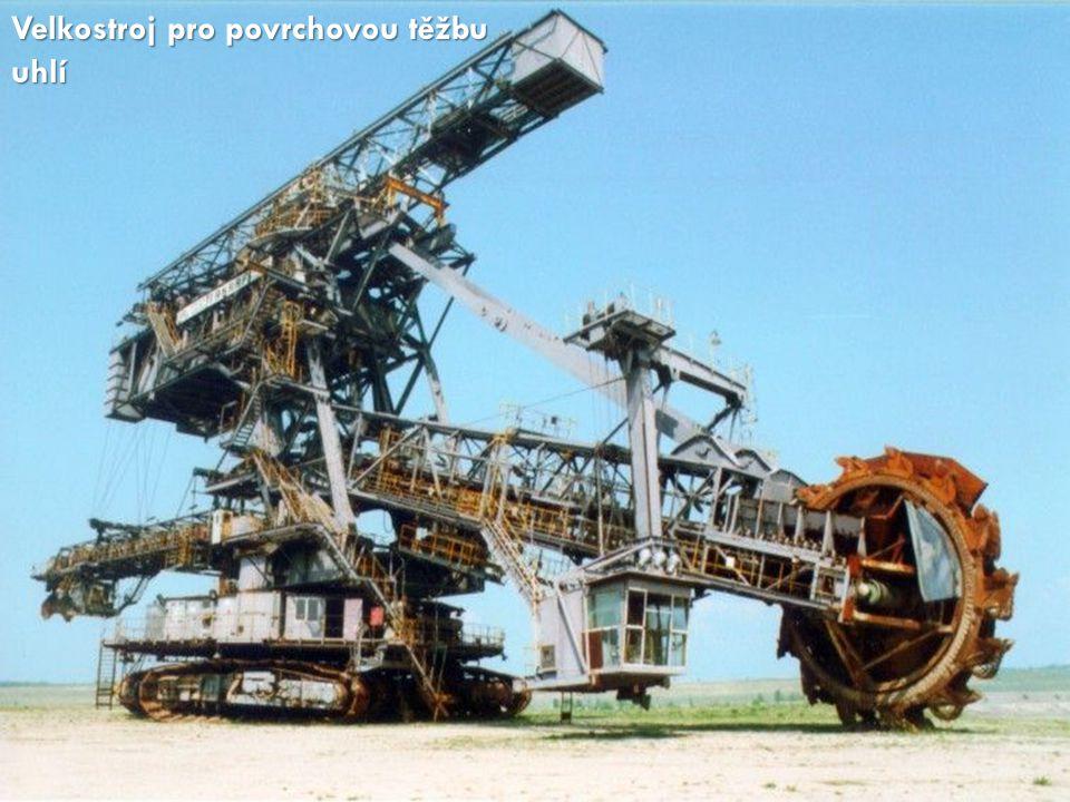 Velkostroj pro povrchovou těžbu uhlí