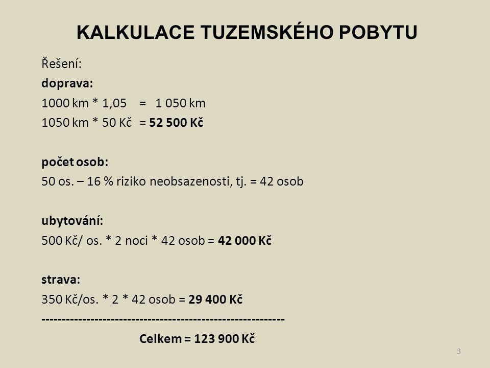 4 NÁ na 1 os.: 123 900 Kč / 42 os.= 2950,- režie na 1 os: 8400 Kč/ 42 os.
