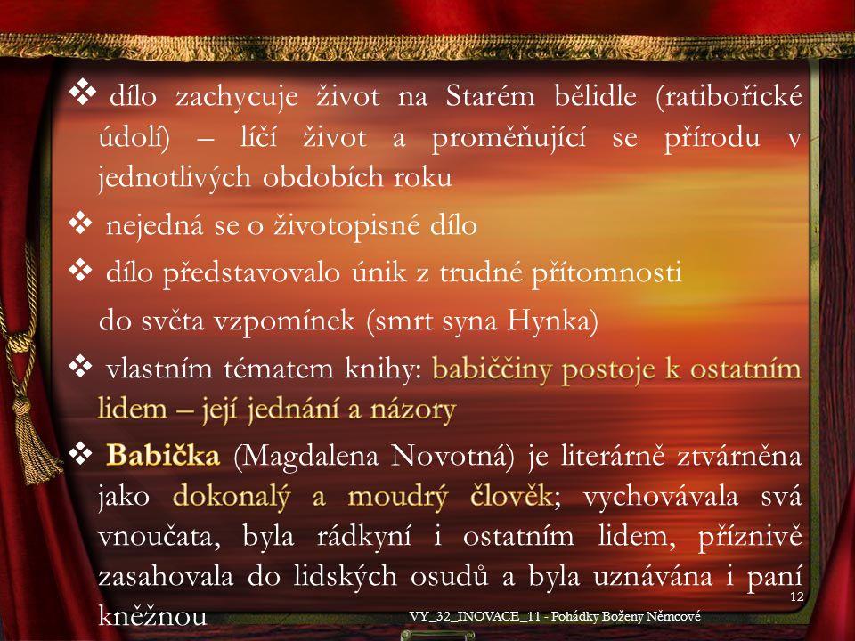 12 VY_32_INOVACE_11 - Pohádky Boženy Němcové