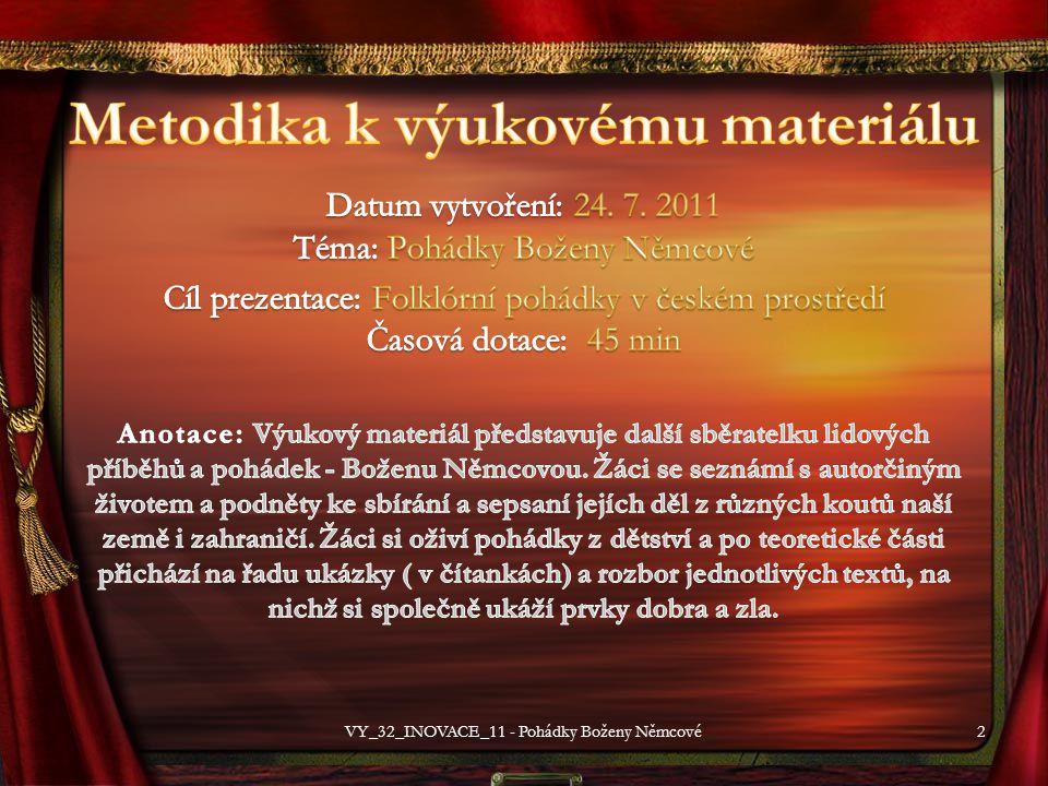 2VY_32_INOVACE_11 - Pohádky Boženy Němcové