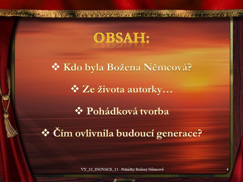 15 VY_32_INOVACE_11 - Pohádky Boženy Němcové