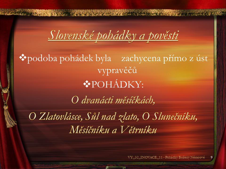 10VY_32_INOVACE_11 - Pohádky Boženy Němcové