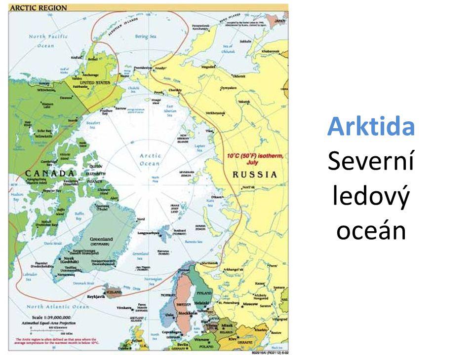 Arktida - vymezení Oblast nad 66°32' s.š. – 21 mil.