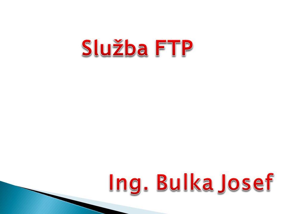 Ukázka připojení pomocí FTP protokolu (port 21)