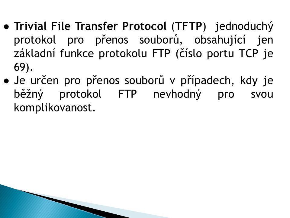 3.FTP služba používá pro řídící spojení: a)Port 20 b)Port 80 c)Port 21 4.FTP služba používá pro datové spojení: a)Port 21 b)Port 25 c)Port 20