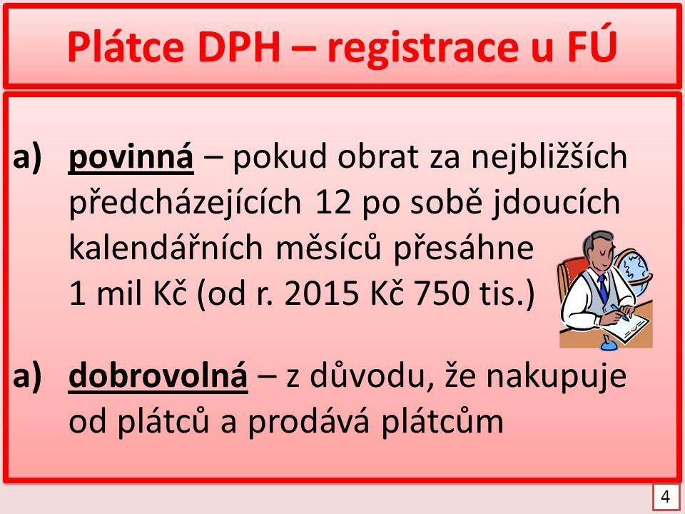 Povinná registrace Zákon č.