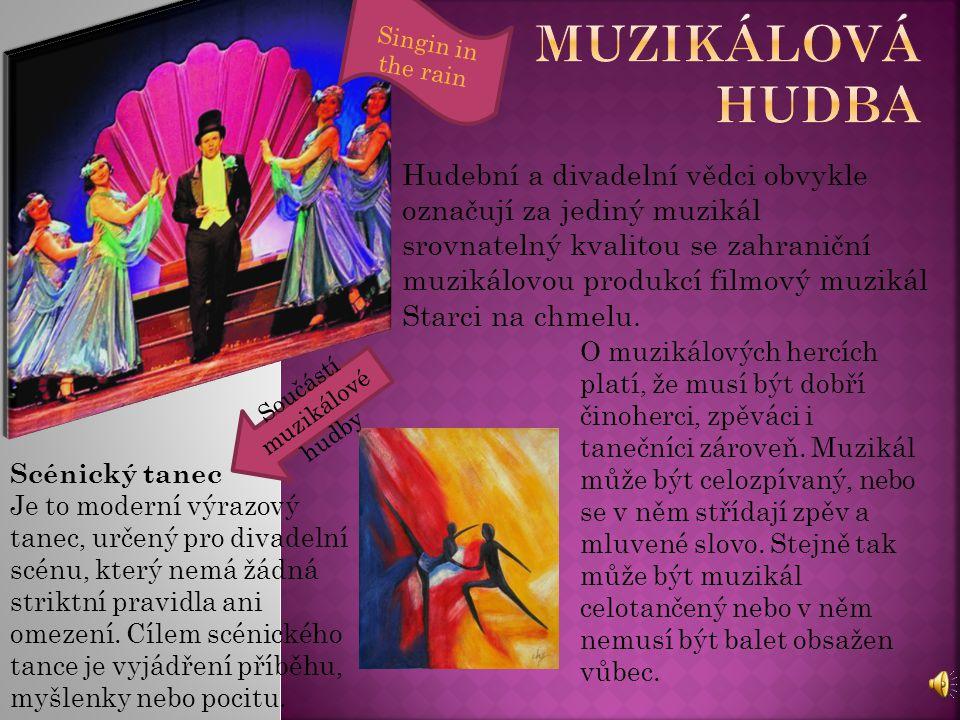 Cílem muzikálového a scénického tance je naučit se nejen taneční kroky, ale také ponořit se do příběhu, vnímat hudbu a naučit se mluvit prostřednictvím těla.