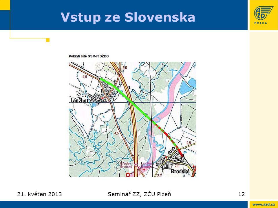 Vstup ze Slovenska 21. květen 2013Seminář ZZ, ZČU Plzeň12