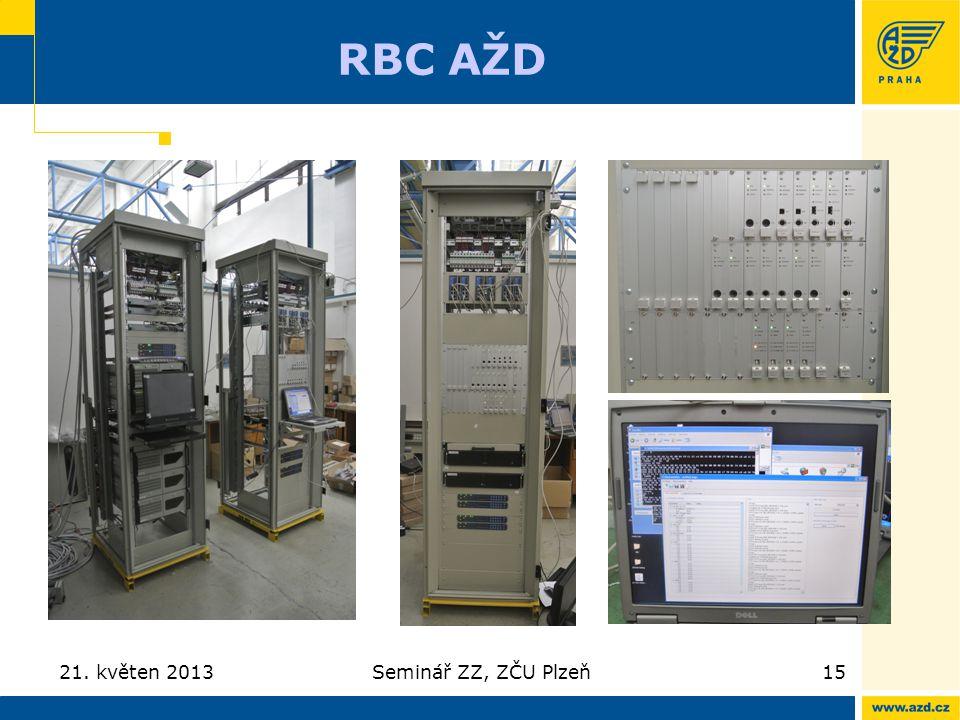 RBC AŽD 21. květen 2013Seminář ZZ, ZČU Plzeň15