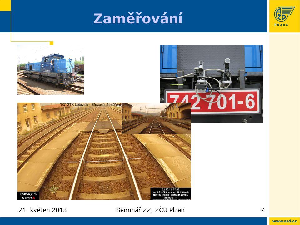 Zaměřování 21. květen 2013Seminář ZZ, ZČU Plzeň7