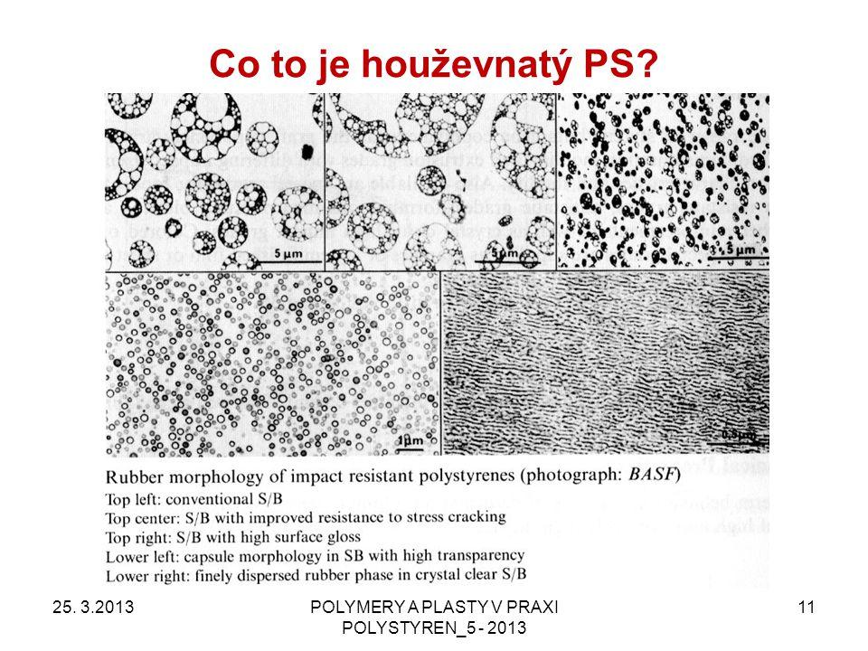 Co to je houževnatý PS? 25. 3.2013POLYMERY A PLASTY V PRAXI POLYSTYREN_5 - 2013 11