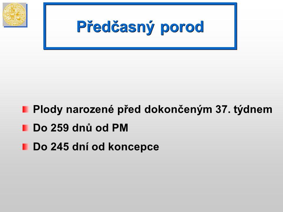 Kontraindikace: děložní činnost, PROM, infekce, krvácení Indikace pouze při objektivně prokázané insuficienci děložního hrdla Po cerclage profylaktická tokolýza- 48 hod.