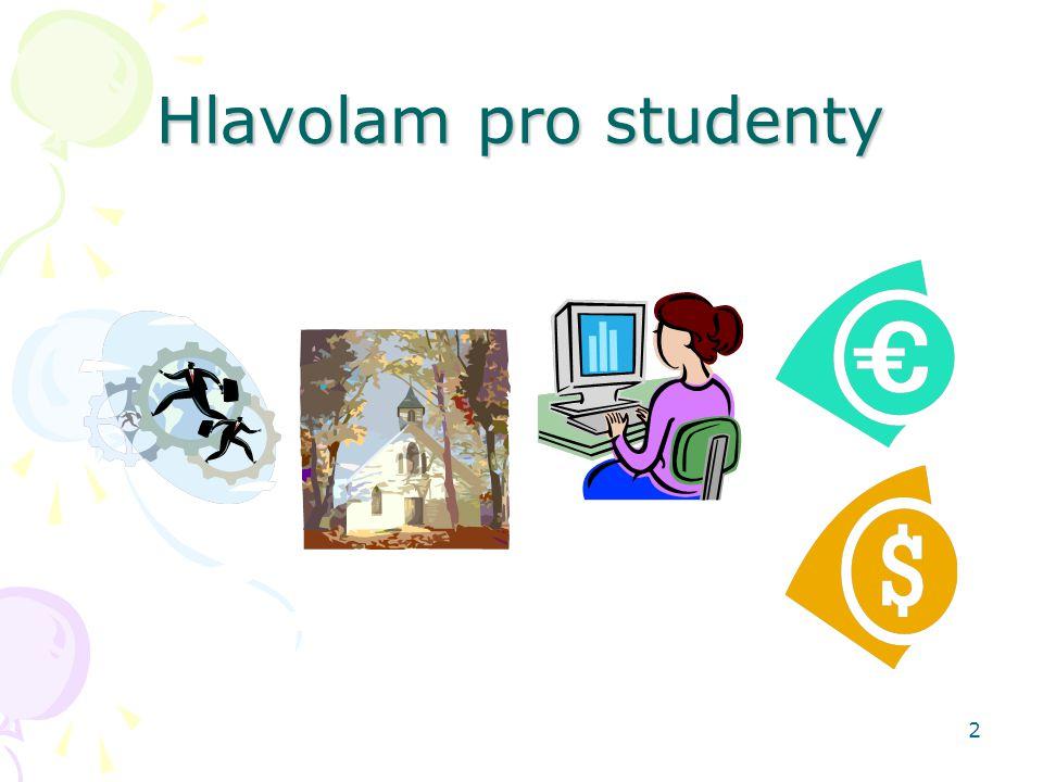 2 Hlavolam pro studenty