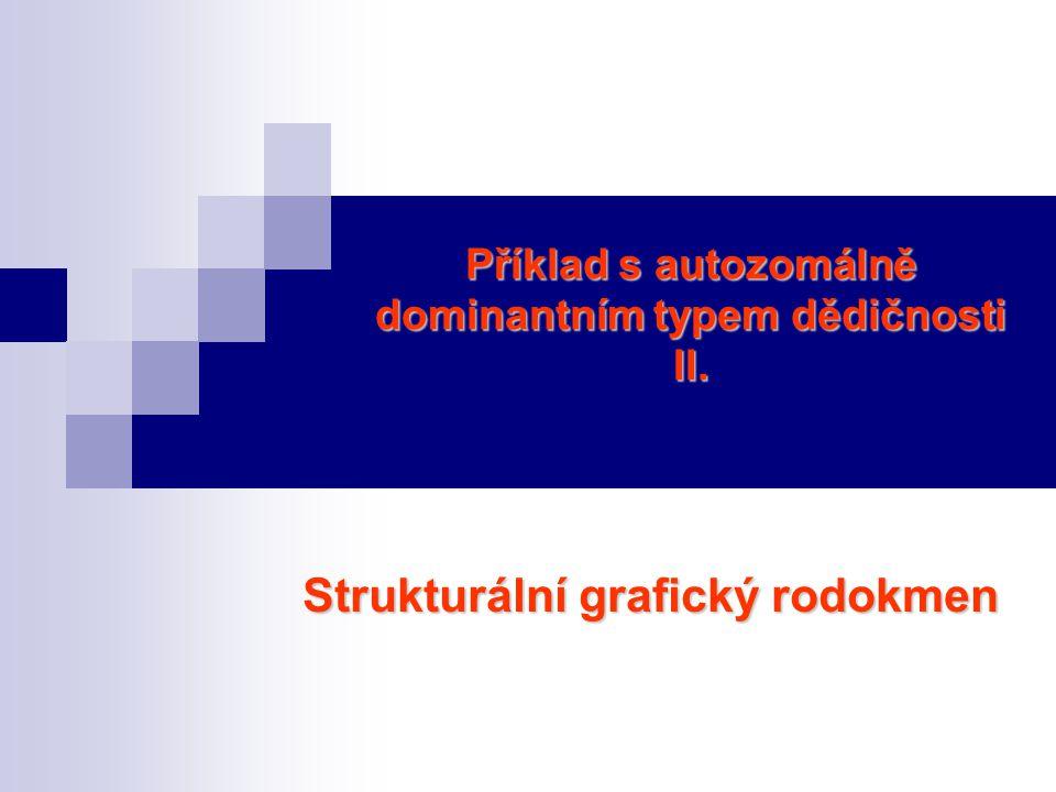 Příklad s autozomálně dominantním typem dědičnosti II. Strukturální grafický rodokmen