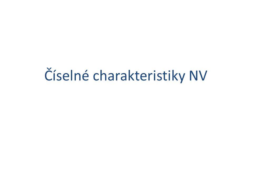 Číselné charakteristiky NV