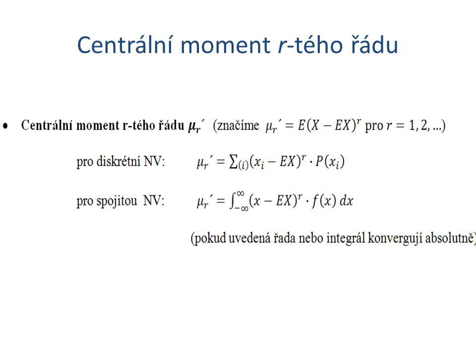Centrální moment r-tého řádu