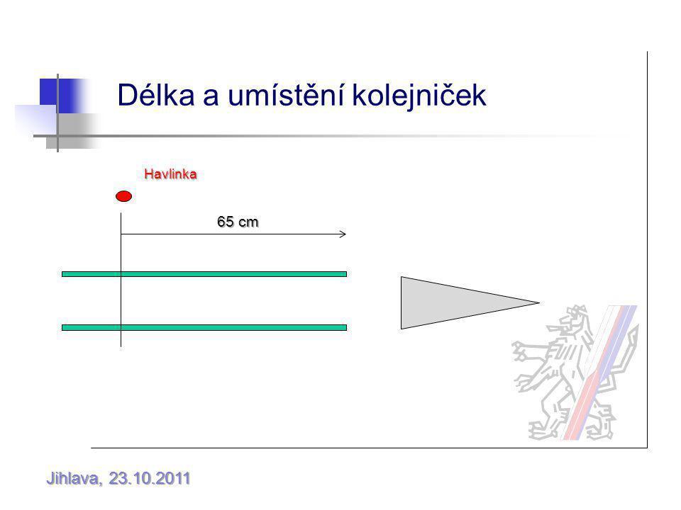 Jihlava, 23.10.2011 Délka a umístění kolejniček Havlinka 65 cm