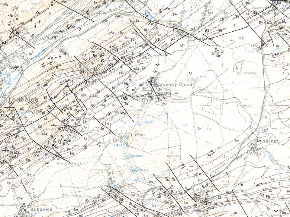 Postup zpracování: vytvoření topografických vrstev vytvoření základních tematických vrstev zpracování tabulkových dat geofondu