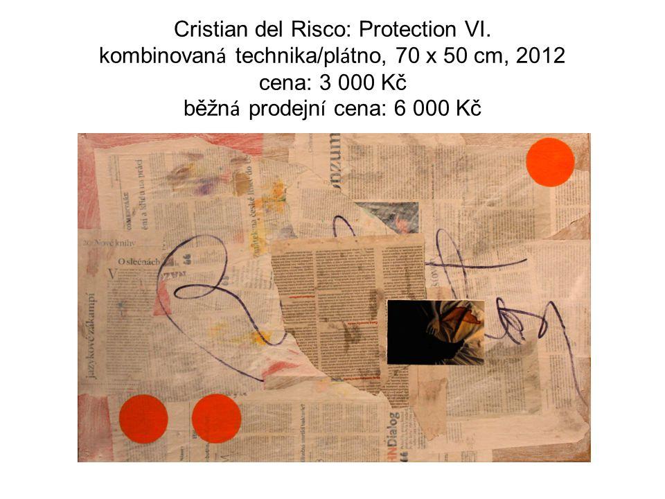 Cristian del Risco: Protection VI. kombinovan á technika/pl á tno, 70 x 50 cm, 2012 cena: 3 000 Kč běžn á prodejn í cena: 6 000 Kč