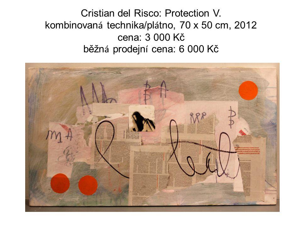 Cristian del Risco: Protection V. kombinovan á technika/pl á tno, 70 x 50 cm, 2012 cena: 3 000 Kč běžn á prodejn í cena: 6 000 Kč