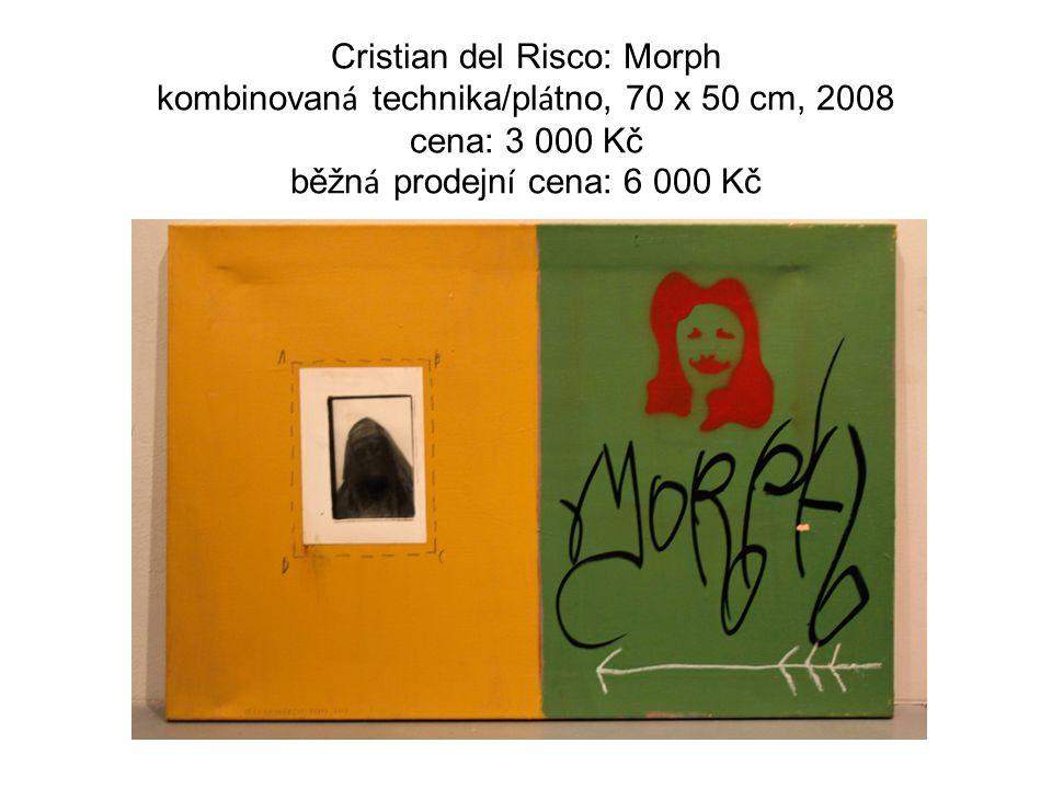 Cristian del Risco: Morph kombinovan á technika/pl á tno, 70 x 50 cm, 2008 cena: 3 000 Kč běžn á prodejn í cena: 6 000 Kč