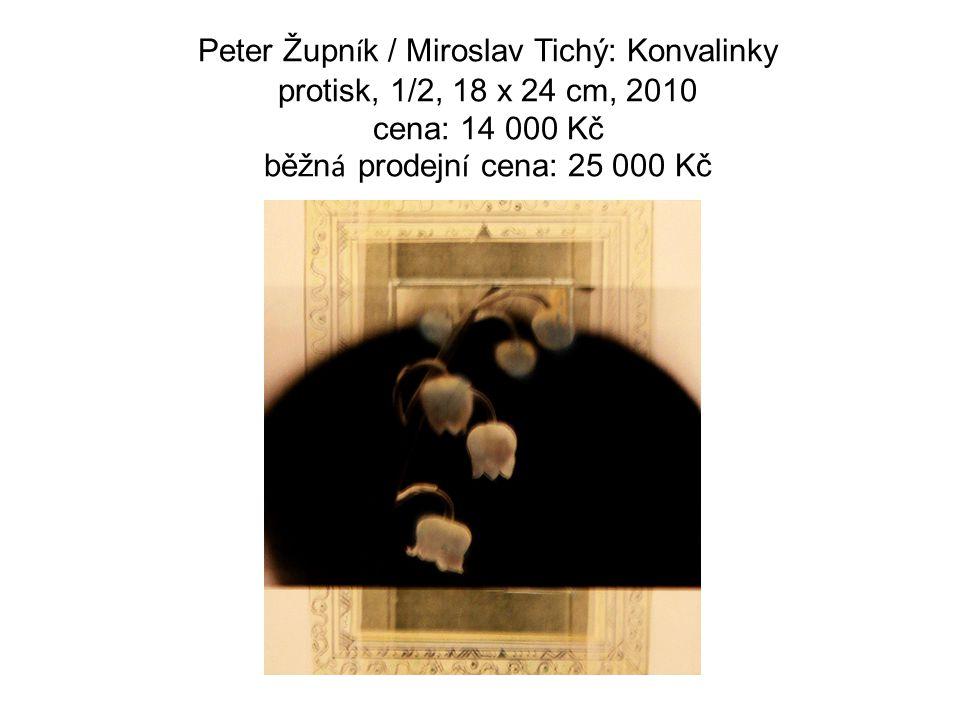 Peter Župn í k / Miroslav Tichý: Konvalinky protisk, 1/2, 18 x 24 cm, 2010 cena: 14 000 Kč běžn á prodejn í cena: 25 000 Kč