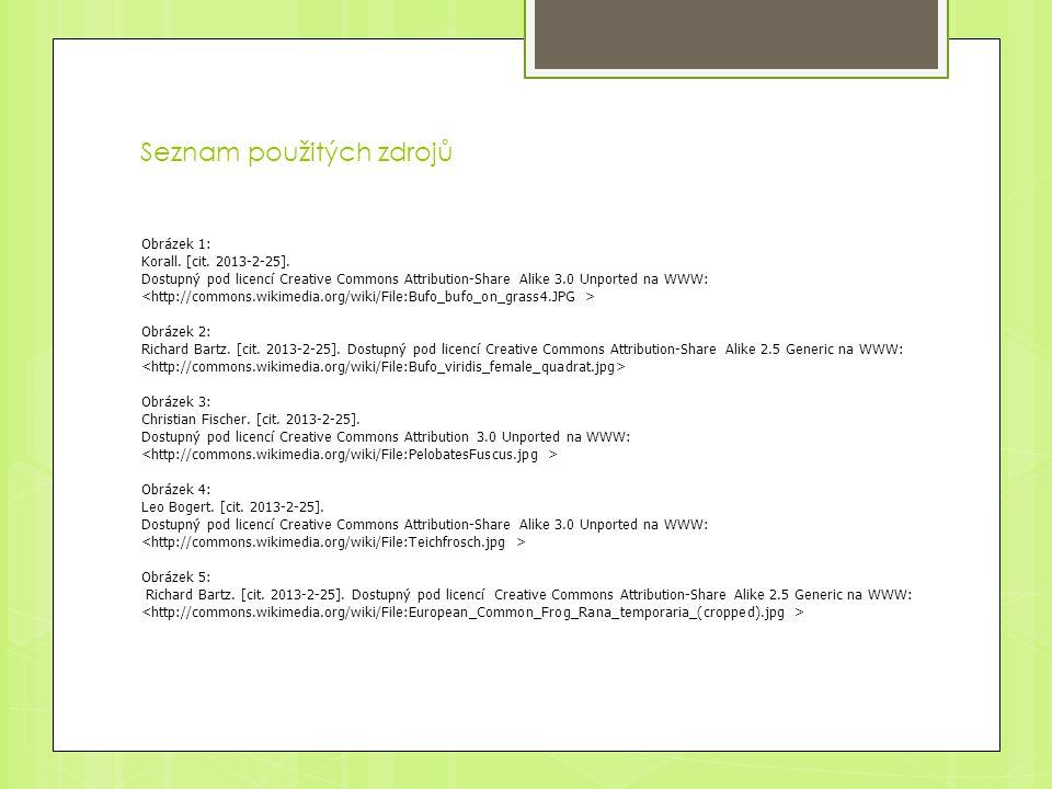 Seznam použitých zdrojů Obrázek 1: Korall. [cit. 2013-2-25].