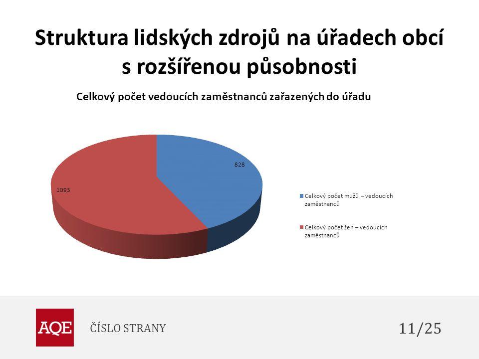 Struktura lidských zdrojů na úřadech obcí s rozšířenou působnosti ČÍSLO STRANY 11/25