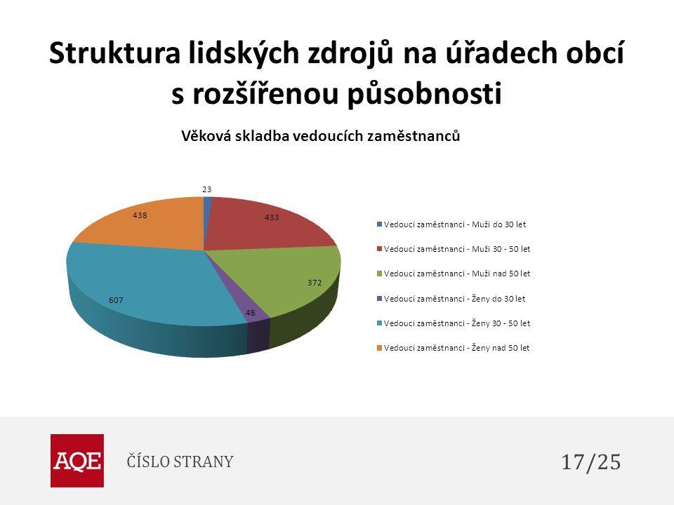 Struktura lidských zdrojů na úřadech obcí s rozšířenou působnosti ČÍSLO STRANY 17/25